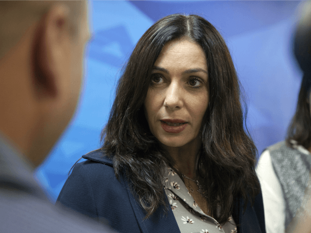 Israeli Minister of Sports and Culture Miri Regev attends the weekly cabinet meeting on June 21, 2015 in Jerusalem.