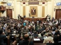 A general view show the first session of the Egyptian parliament in Cairo on July 10, 2012, after Egypt's top court rejected a decree by President Mohamed Morsi to reinstate the parliament it ruled invalid.