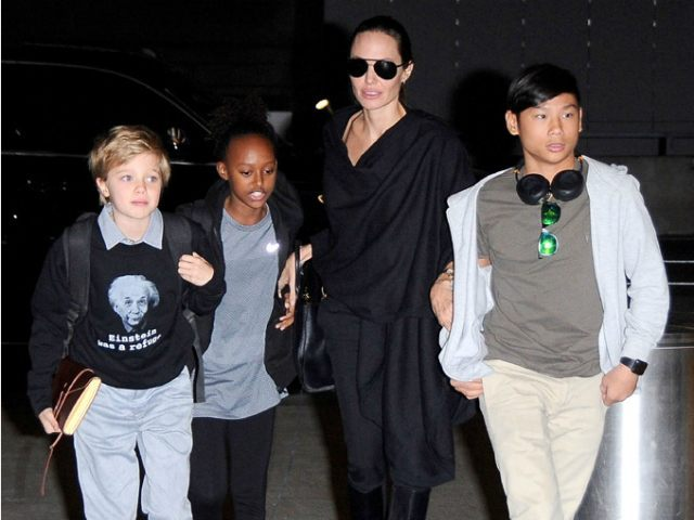 9-Year-Old Shiloh Jolie-Pitt Rocks 'Einstein Was a Refugee' T-Shirt
