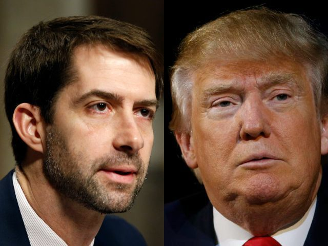 Tom Cotton and Donald Trump