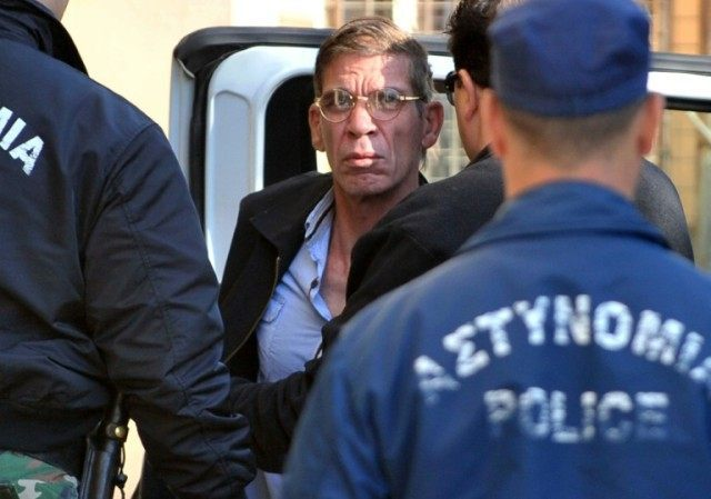 Seif al-Din Mohamed Mostafa, an Egyptian man accused of hijacking an EgyptAir passenger plane and forcing it to divert to Cyprus demanding to see his ex-wife, is brought to court in Larnaca