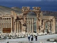 "Islamic State fighters seized Palmyra -- dubbed the ""Pearl of the Desert"" -- in May 2015"