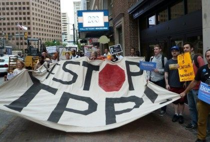 """Forty-five of the 50 private corporations historically responsible for the most climate-disrupting emissions would be empowered to challenge climate policies"" if the TPP and TTIP are implemented, the Sierra Club said"