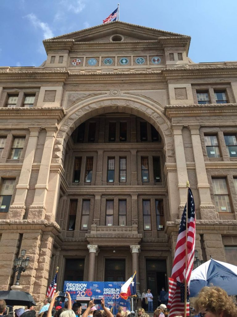 Decision America Tour 2016 comes to south steps of Texas Capitol. (Photo Courtesy Jeanie Mason)