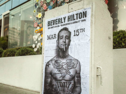 Ted Cruz poster in Hollywood (Kerry Picket / Breitbart News)