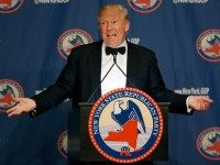Republican presidential candidate Donald Trump speaks during the New York Republican State Committee Annual Gala Thursday, April 14, 2016, in New York.