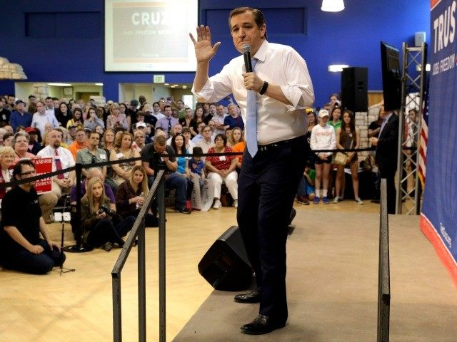 Republican presidential candidate, Sen. Ted Cruz, R-Texas speaks during a rally in Towson, Md., Monday, April 18, 2016.