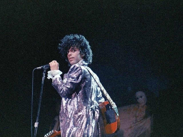 Singer Prince is shown in concert in 1985, (AP Photo)