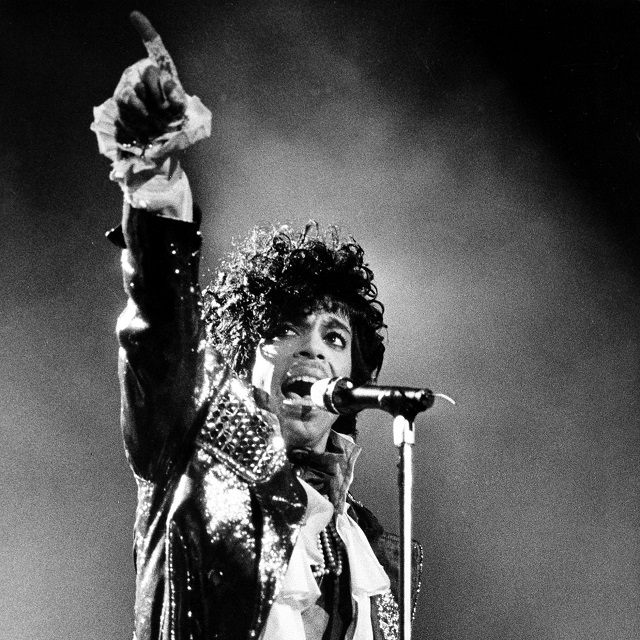 Rock star Prince performs in concert in Cincinnati, Ohio, on January 21, 1985 (AP Photo/Rob Burns)