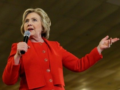 Democratic presidential candidate Hillary Clinton speaks to supporters Wednesday, April 13, 2016, in the Bronx borough of New York.