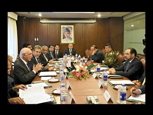 Afghan Delegation in Pakistan Reuters
