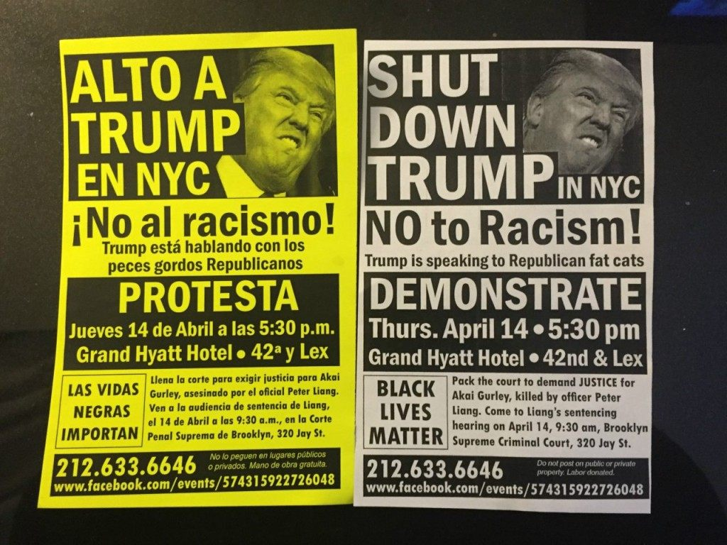 Anti Trump Flyers