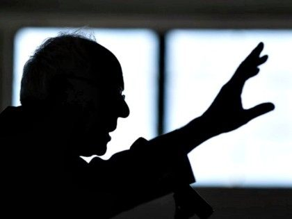 Democratic presidential candidate, Sen. Bernie Sanders, I-Vt. gestures as he speaks during a campaign stop, Thursday, Jan. 21, 2016, in Peterborough, N.H. (AP Photo/Matt Rourke)