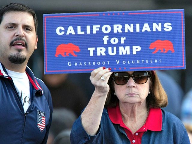 Californians for Trump sign David McNew Getty