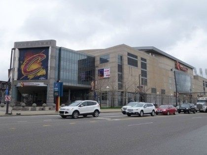 Quicken Loans Arena, known as The Q, home to the Cleveland Cavaliers basketball team and venue for the 2016 Republican Convention is seen in Cleveland, Ohio on April 7, 2016.