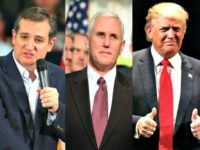 Cruz, Pence, Trump AP Photos