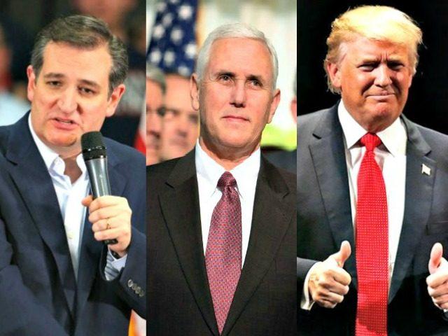 Cruz, Pence, Trump AP Photos