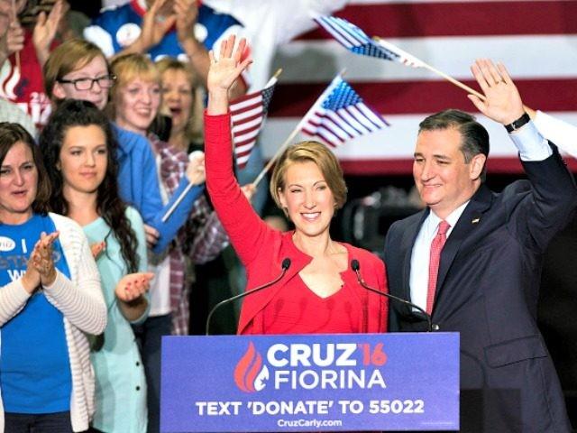 Cruz and Fiorina Ty Wright Getty