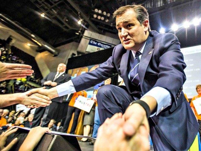 Cruz shakes hands in Colorado
