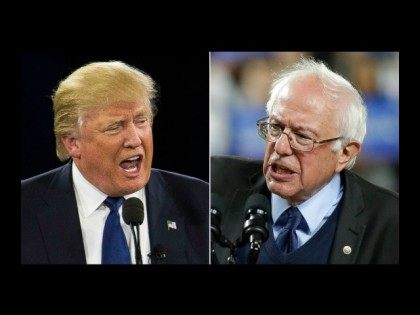 Donald Trump and Bernie Sanders AP Photos