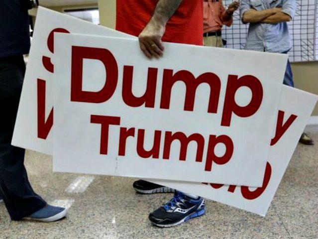 Dump Trump Sign Lynne Sladky, AP