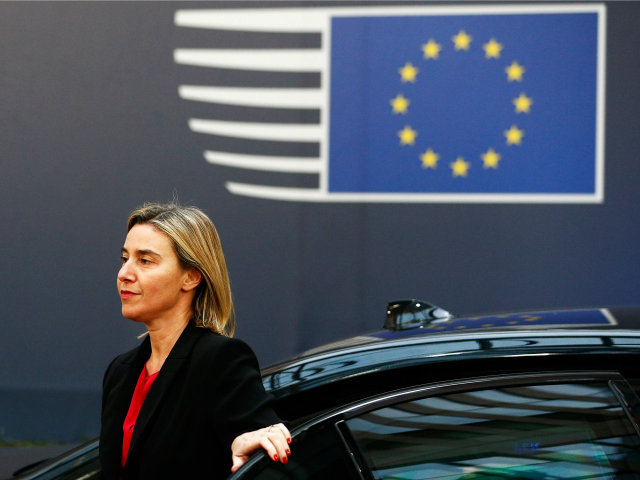 High Representative of the European Union for Foreign Affairs and Security Policy and Vice-President of the European Commission in the Juncker Commission, Federica Mogherini arrives for The European Council Meeting In Brussels held at the Justus Lipsius Building on December 17, 2015 in Brussels, Belgium.