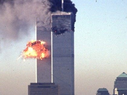 A hijacked commercial plane crashes into the World Trade Center 11 September 2001 in NY. AFP PHOTO SETH MCALLISTER