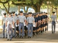 Incoming Citadel freshman on August 19, 2013 in Charleston, South Carolina.