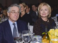 NEW YORK, NY - NOVEMBER 11: Robert DeNiro and Former Secretary of State Hillary Clinton attend the The East Harlem School 2013 Fall Benefit Honoring Susan And Alan Patricof on November 11, 2013 in New York City. (Photo by Eugene Gologursky/Getty Images for East Harlem School)