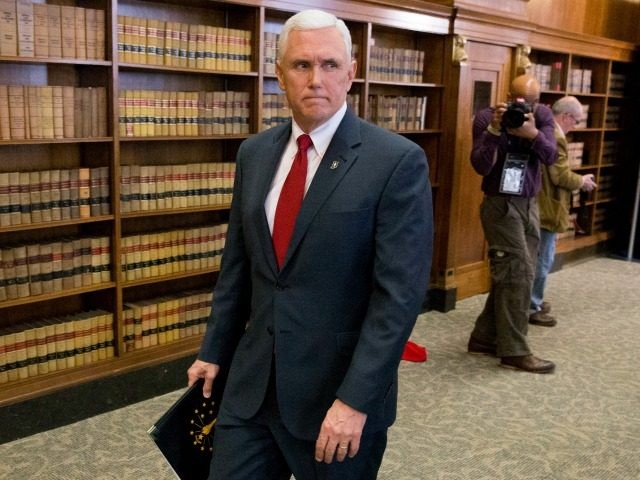 Indiana Gov. Mike Pence March 31, 2015 in Indianapolis, Indiana.