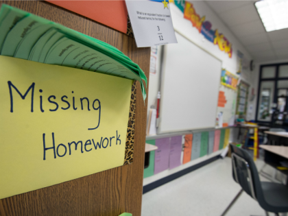 A classroom is seen February 21, 2014, at Steuart W. Weller Elementary School in Ashburn, Virginia.