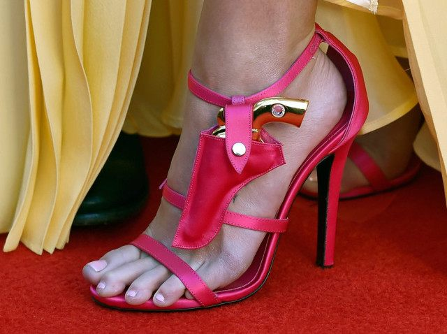 LAS VEGAS, NV - APRIL 03: Recording artist Miranda Lambert, shoe detail, attends the 51st Academy of Country Music Awards at MGM Grand Garden Arena on April 3, 2016 in Las Vegas, Nevada. (Photo by David Becker/Getty Images)