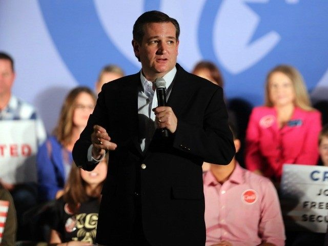 Ted Cruz addresses a rally at the Town and Country Resort and Convention Center on April 11, 2016 in San Diego, California. / AFP / Bill Wechter (Photo credit should read