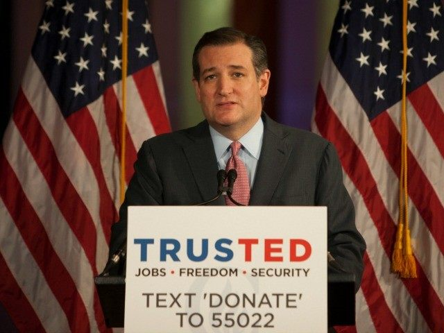Republican Presidential candidate Senator Ted Cruz (R-TX) speaks at his Pennsylvania kick off event at the National Constitution Center on April 19, 2016 in Philadelphia.