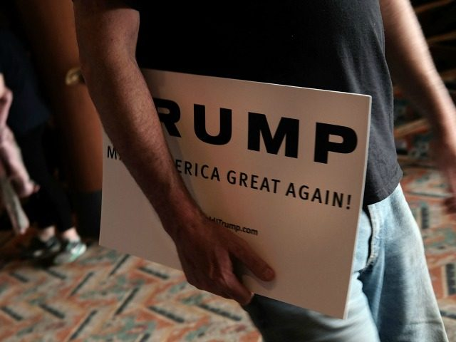 upporters depart a Republican presidential candidate Donald Trump rally in Bridgeport on April 23, 2016 in Bridgeport, Connecticut. Under a heavy police presence, the afternoon event was disrupted on a number of occasions by protesters. Despite his advisers pledging that Trump will begin using a more presidential tone in his …