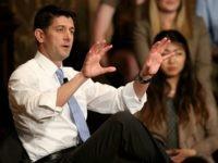 U.S. Speaker of the House Paul Ryan (R-WI) speaks at Georgetown University April 27, 2016 in Washington, DC.