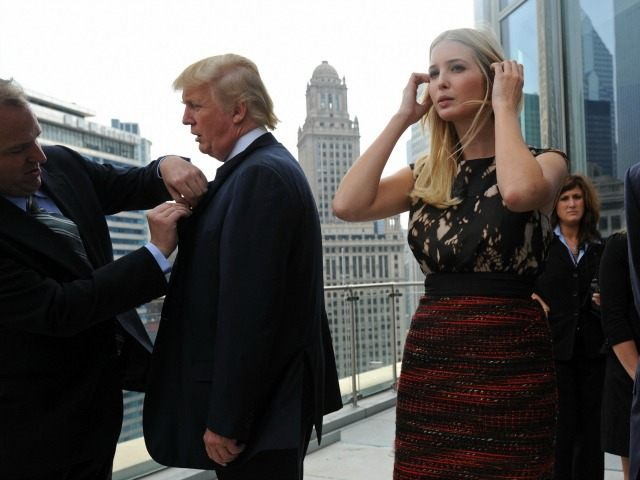 Trump with his daughter Ivanka arrive for a press conference at the Trump International Hotel and Tower in Chicago on September 24, 2008. (Amanda Rivkin/AFP/Getty Images)
