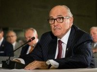Former Mayor of New York City Rudy Giuliani testifies at a U.S. House of Representatives Committee on Homeland Security hearing at the National September 11 Memorial and Museum on September 8, 2015 in New York City.