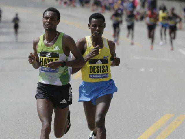Hayle and Desisa Boston Marathon
