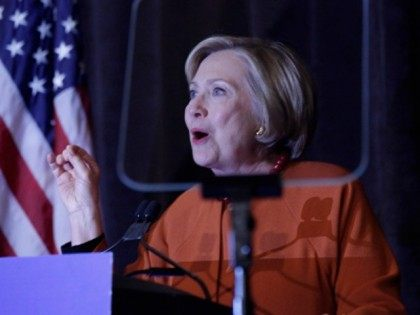MILWAUKEE, WISCONSIN - APRIL 02: Democratic Presidential Candidate Hillary Clinton speaks at the Founders Day Dinner on April 2, 2016 in Milwaukee, Wisconsin.