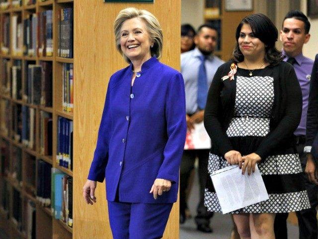 Hillary and DREAMer John Locher AP