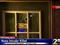 Home Invasion Bullet Hole wsbtv