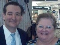 Kathy Haigler and Ted Cruz