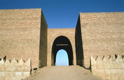 Mashki Gate built in the seventh century BC