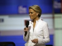 Moderator Megyn Kelly speaks before a Republican presidential primary debate at Fox Theatre, Thursday, March 3, 2016, in Detroit. (AP Photo/Carlos Osorio)