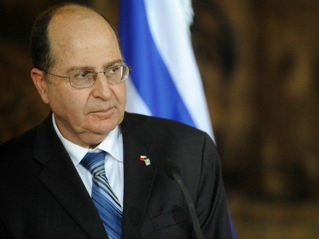 Israel's Vice-Premier and Strategic Affairs Minister Moshe Yaalon delivers a speech during a joint press conference with Czech Foreign Minister Karel Schwarzenberg (unseen) on November 24, 2011 in Prague.
