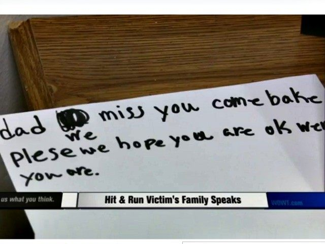 Note victim family