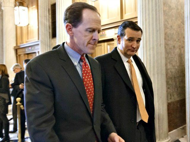 Pat Toomey and Ted Cruz AP