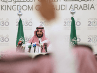 Saudi Defense Minister and Deputy Crown Prince Mohammed bin Salman gives a press conference in Riyadh, on April 25, 2016. The key figure behind the unveiling of a vast plan to restructure the kingdom's oil-dependent economy, the son of King Salman has risen to among Saudi Arabia's most influential figures …