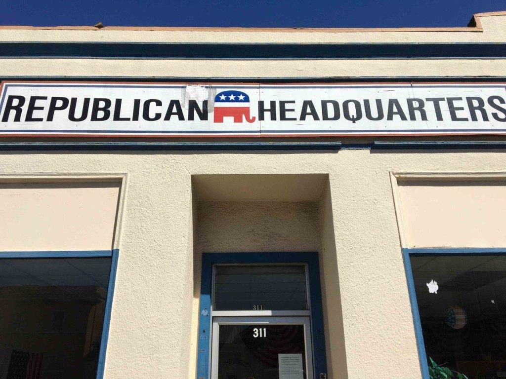 Republican Headquarters Eureka (Daniel Nussbaum / Breitbart News)